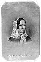 0058713 © Granger - Historical Picture ArchiveFREDRIKA BREMER (1801-1865).   Swedish novelist. Steel engraving, 19th century.
