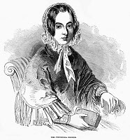 0268591 © Granger - Historical Picture ArchiveFREDRIKA BREMER (1801-1865).   Swedish novelist. Wood engraving, English, 1850.