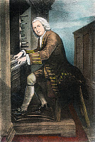 0038430 © Granger - Historical Picture ArchiveJOHANN SEBASTIAN BACH   (1685-1750). German organist and composer. Lithograph, 19th century.