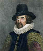 0008663 © Granger - Historical Picture ArchiveSIR FRANCIS BACON (1561-1626). English philosopher, statesman, and author. Steel engraving, English, 19th century.