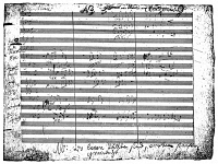 0017940 © Granger - Historical Picture ArchiveBEETHOVEN: FIDELIO, 1804-05.   Manuscript of the March from Ludwig van Beethoven's opera 'Fidelio.' At the bottom is written, 'Where the measures are empty, rests are to be made.'