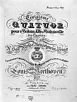 0122066 © Granger - Historical Picture ArchiveBEETHOVEN QUARTET, 1827.   Ornamental title page by A. Kurka for Ludwig van Beethoven's String Quartet in B Flat Major, Op. 130, 1827.