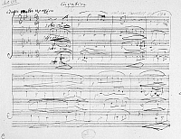 0122069 © Granger - Historical Picture ArchiveBEETHOVEN MANUSCRIPT, 1825.   Manuscript page from Ludwig van Beethoven's String Quartet in B Flat, Op. 130, showing the fifth movement, 1825.