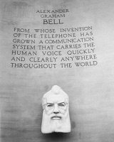 0058423 © Granger - Historical Picture ArchiveALEXANDER GRAHAM BELL   (1847-1922). American (Scottish-born) teacher and inventor. From the Bell Telephone Exhibit at the New York World's Fair, 1939-40.