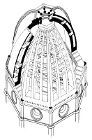 0018450 © Granger - Historical Picture ArchiveBRUNELLESCHI: DOME PLAN.   Modern diagram of Filippo Brunelleschi's dome for the Cathedral of Florence.
