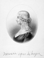 0056076 © Granger - Historical Picture ArchiveLUCREZIA BORGIA (1480-1519).   Duchess of Ferrara. Steel engraving, 19th century.