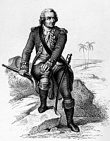 0118406 © Granger - Historical Picture ArchiveLOUIS de BOUGAINVILLE   (1729-1811). French navigator. Etching and engraving, French, c1840.