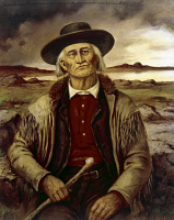 0325089 © Granger - Historical Picture ArchiveJAMES BRIDGER (1804-1881).   American fur trader and mountain man. After a painting, 1879, by Henry H. Cross (1837-1918).