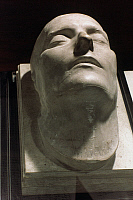 0044134 © Granger - Historical Picture ArchiveNAPOLEON DEATH MASK.   The death mask of Napoleon Bonaparte (1769-1821).