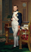 0057690 © Granger - Historical Picture ArchiveDAVID: NAPOLEON BONAPARTE.   Napoleon Bonaparte in his study at the Tuileries. Oil on canvas, 1812, by Jacques Louis David.