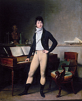 0117402 © Granger - Historical Picture ArchiveFRANCOIS ADRIEN BOIELDIEU.   (1775-1834). French composer. Oil on canvas by Louis-Léopold Boilly, 1800.