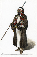 0007078 © Granger - Historical Picture ArchiveSIR RICHARD FRANCIS BURTON   (1821-1890). British explorer and Orientalist. In traditional Arab dress. Wood engraving, English, 1890.