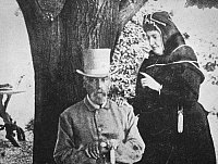 0013133 © Granger - Historical Picture ArchiveRICHARD FRANCIS BURTON   (1821-1890). English explorer and Orientalist. With Lady Burton in Trieste, 1890.