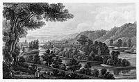 0163384 © Granger - Historical Picture ArchiveBLENNERHASSETT ISLAND.   A view of Blennerhassett Island on the Ohio River in present-day West Virginia, the staging ground for Aaron Burr's ill-fated expedition of 1806. Steel engraving, American, c1850, after a sketch by Lizzie Forbes.