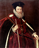 0049495 © Granger - Historical Picture ArchiveWILLIAM CECIL BURGHLEY   (1520-1598). English statesman. Oil on panel, c1585, by an unknown artist.