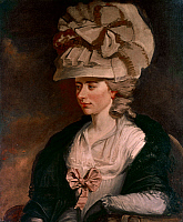0039851 © Granger - Historical Picture ArchiveFANNY BURNEY (1752-1840).   English novelist. Oil on canvas, c1784, by Edward Francis Burney.