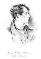 0017818 © Granger - Historical Picture ArchiveGEORGE GORDON BYRON   (1788-1824). Sixth Baron Byron. English poet. Lithograph, English, 19th century.