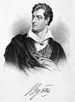 0043522 © Granger - Historical Picture ArchiveGEORGE GORDON BYRON (1788-1824).   6th Baron Byron. English poet. Stipple engraving, 19th century.