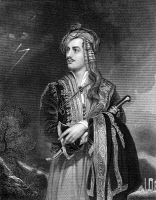 0058888 © Granger - Historical Picture ArchiveGEORGE GORDON BYRON   (1788-1824). 6th Baron Byron. English poet. Steel engraving, English, 19th century, after the painting by Thomas Philipps.