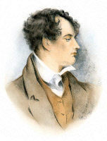 0069847 © Granger - Historical Picture ArchiveGEORGE GORDON BYRON   (1788-1824). Sixth Baron Byron. English poet. Lithograph, English, 19th century.