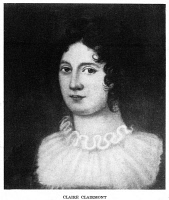 0059483 © Granger - Historical Picture ArchiveCLAIRE CLAIRMONT (1798-1879).   (Clara Mary Jane). English mistress of Lord Byron. Gravure after a painting by Emory W. Price after Amelia Curran.