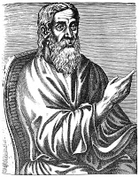 0059881 © Granger - Historical Picture ArchiveCLEMENT OF ALEXANDRIA   (c150-c220 A.D.). Greek theologian of early Christian church. Line engraving, 16th century.