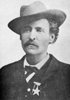 0000418 © Granger - Historical Picture ArchiveTIMOTHY ISAIAH COURTRIGHT   (c1845-1887). American frontiersman. Photographed c1876 while marshal of Fort Worth, Texas.