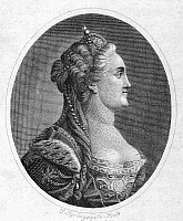0006831 © Granger - Historical Picture ArchiveCATHERINE II (1729-1796).   Empress of Russia (1762-96). Copper engraving, 1800.