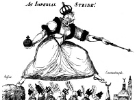 0013190 © Granger - Historical Picture ArchiveCATHERINE II (1729-1796).   Empress of Russia, 1762-96. Late 18th century English cartoon on Catherine's territorial ambitions in Turkey.