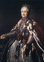 0022477 © Granger - Historical Picture ArchiveCATHERINE II (1729-1796).   Empress of Russia, 1762-1796. Oil on canvas, 1793, by Johann Baptist Lampi the Elder.