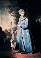 0026212 © Granger - Historical Picture ArchiveCATHERINE II (1729-1796).   Empress of Russia, 1762-1796. Walking in the park at Tsarskoye Selo. Oil on canvas, 1794, by V.L. Borovikovsky.