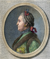 0031699 © Granger - Historical Picture ArchiveCATHERINE II OF RUSSIA   (1729-1796). Russian etching, 1762.