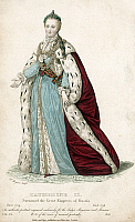 0072399 © Granger - Historical Picture ArchiveCATHERINE II (1729-1796).   Empress of Russia, 1762-1796. Steel engraving, English, 1836.