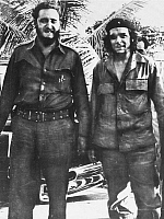 0001313 © Granger - Historical Picture ArchiveCASTRO & GUEVARA, 1961.   Fidel Castro (1926-2016), left, Cuban political leader, with Ernesto 'Che' Guevara (1928-1967), Argentinian revolutionary leader. Photograph, 1961.