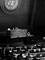 0016585 © Granger - Historical Picture ArchiveFIDEL CASTRO (1926-2016).   Cuban revolutionary leader. Castro addressing the General Assembly of the United Nations in New York City. Photograph, 1960.