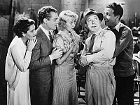 0067541 © Granger - Historical Picture ArchiveFOOTLIGHT PARADE, 1933   Ruby Kebler, James Cagney, Joan Blondell, Frank McHugh, and Dick Powell in 'Footlight Parade.'