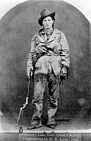 0058902 © Granger - Historical Picture ArchiveCALAMITY JANE (1852-1903).   Martha Jane Canary Burke, known as 'Calamity Jane.' American frontier character. Photographed in 1895.
