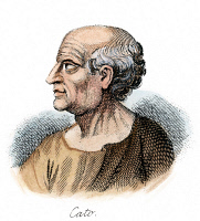 0052729 © Granger - Historical Picture ArchiveMARCUS PORCIUS CATO  (234-149 B.C.). Known as Cato the Censor and Cato the Elder: line engraving, 19th century.