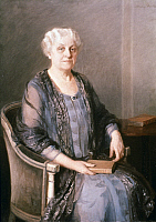 0051947 © Granger - Historical Picture ArchiveCARRIE CHAPMAN CATT   (1859-1947). Carrie Clinton Chapman Catt. American reformer. Oil on canvas, 1927, by Mary Foote. EDITORIAL USE ONLY.