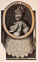 0059742 © Granger - Historical Picture ArchiveCHILDERIC I (d. c481).   King of Salian Franks (457-482). Father of Clovis I. Line engraving, French, 18th century.