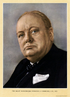 0528846 © Granger - Historical Picture ArchiveWINSTON CHURCHILL   (1874-1965). English statesman. Poster after a photograph by Cecil Beaton, c1940.