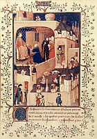 0021143 © Granger - Historical Picture ArchiveCHARLES VI (1368-1422).   King of France, 1380-1422. Pictured in his palace. French manuscript illumination, 15th century.