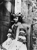 0117268 © Granger - Historical Picture ArchiveALICE LIDDELL (1852-1934).   Alice Pleasance Liddell. The inspiration for 'Alice's Adventures in Wonderland,' by Charles Lutwidge Dodgson, also known as Lewis Carroll. Photograph by Dodgson, c1860.