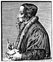 0003944 © Granger - Historical Picture ArchiveJOHN CALVIN (1509-1564).   French theologian and reformer. Line engraving, 16th century.