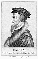 0012365 © Granger - Historical Picture ArchiveJOHN CALVIN (1509-1564).   French theologian and reformer. Stipple engraving after a contemporary print.
