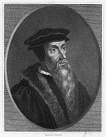 0012366 © Granger - Historical Picture ArchiveJOHN CALVIN (1509-1564).   French Protestant reformer. Stipple engraving, English, 19th century.