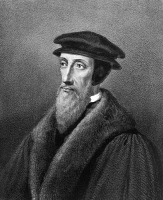 0014193 © Granger - Historical Picture ArchiveJOHN CALVIN (1509-1564).   French theologian and reformer. Lithograph, 19th century.