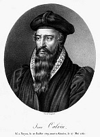0090138 © Granger - Historical Picture ArchiveJOHN CALVIN (1509-1564).   French theologian and reformer. Lithograph, French, 19th century.