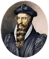 0106954 © Granger - Historical Picture ArchiveJOHN CALVIN (1509-1564).   French theologian and reformer. Lithograph, French, 19th century.