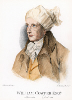 0054190 © Granger - Historical Picture ArchiveWILLIAM COWPER (1731-1800).   English poet: stipple engraving, 1806, by Francesco Bartolozzi after a drawing by Sir Thomas Lawrence.
